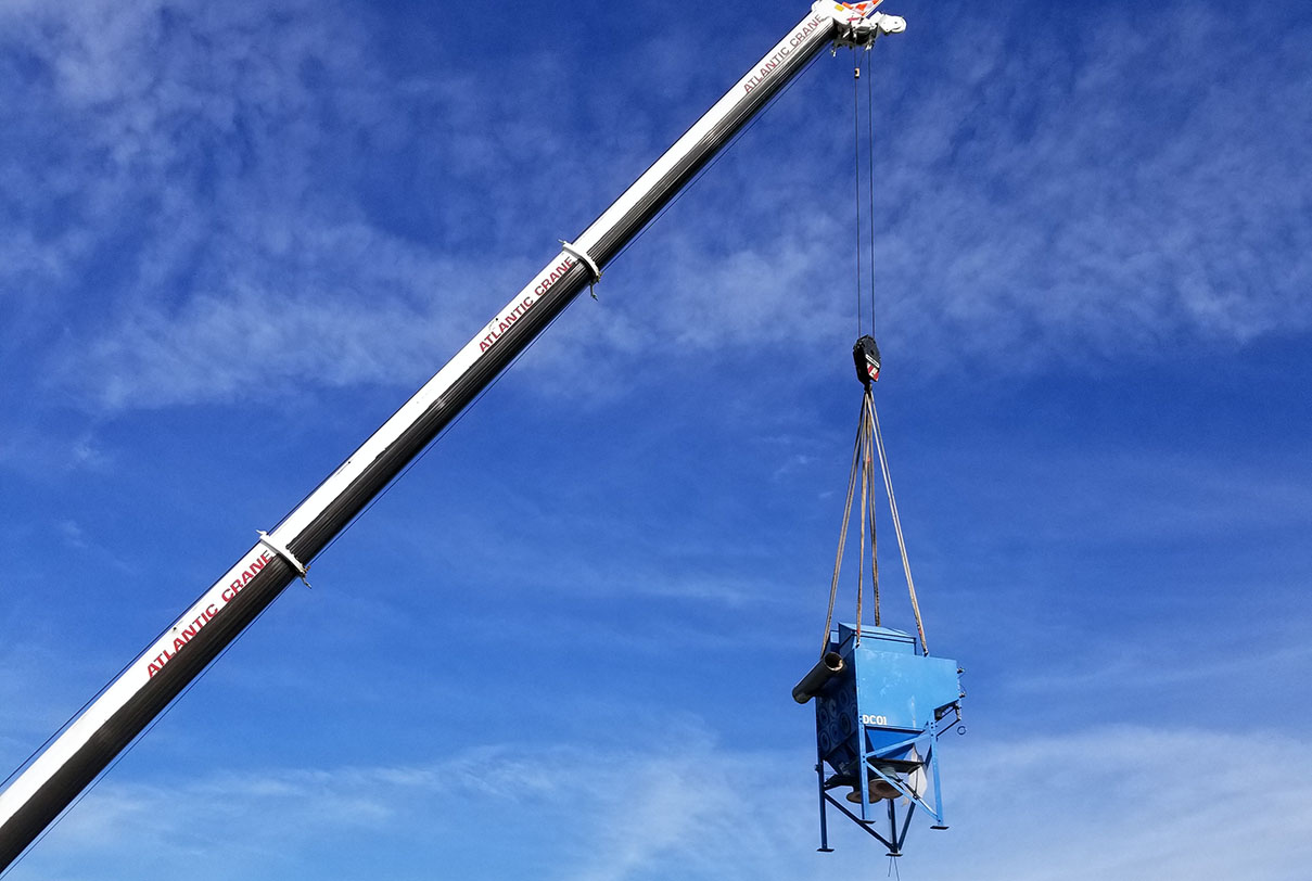 rigging a dust collector