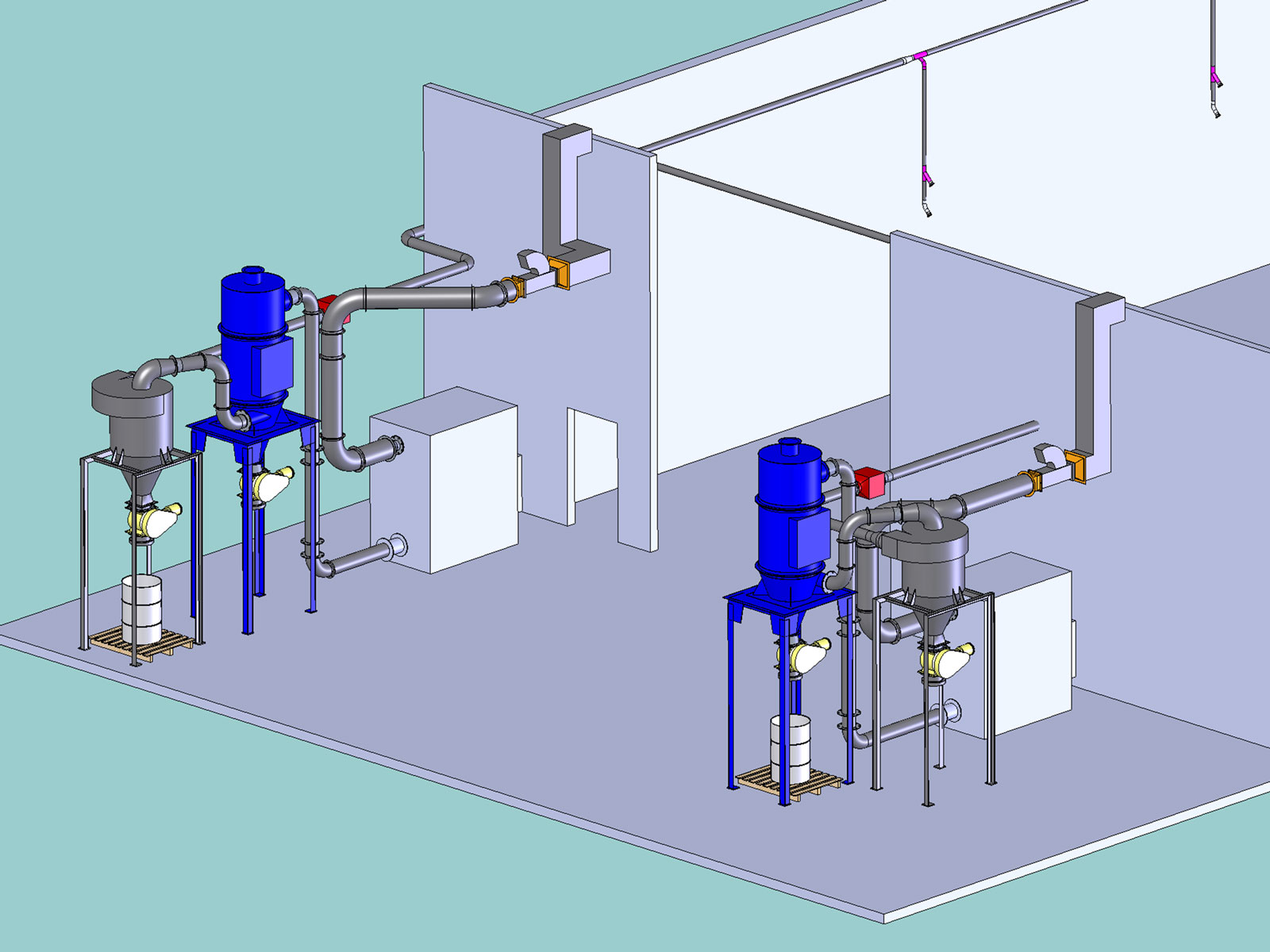 Industrial Vacuum System drawing