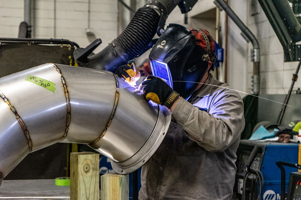 Welding custom duct