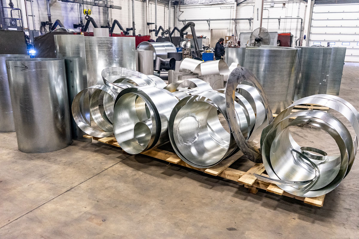 Cut and rolled stainless steel