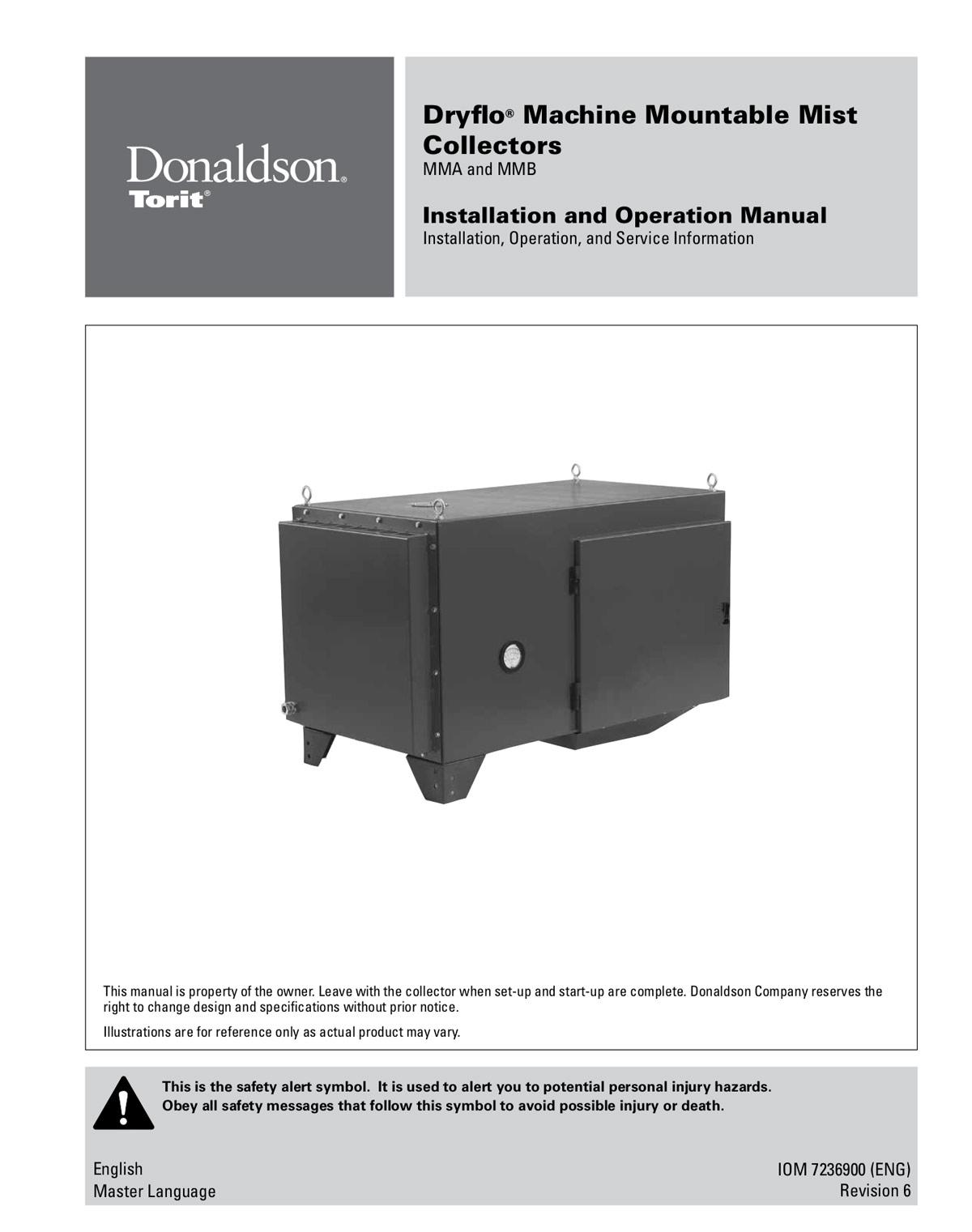Dryflo Machine Mountable Mist Collectors IOM