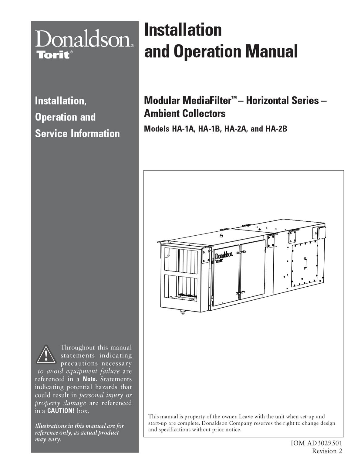 Modular MediaFilter - Horizontal - Ambient Collectors IOM