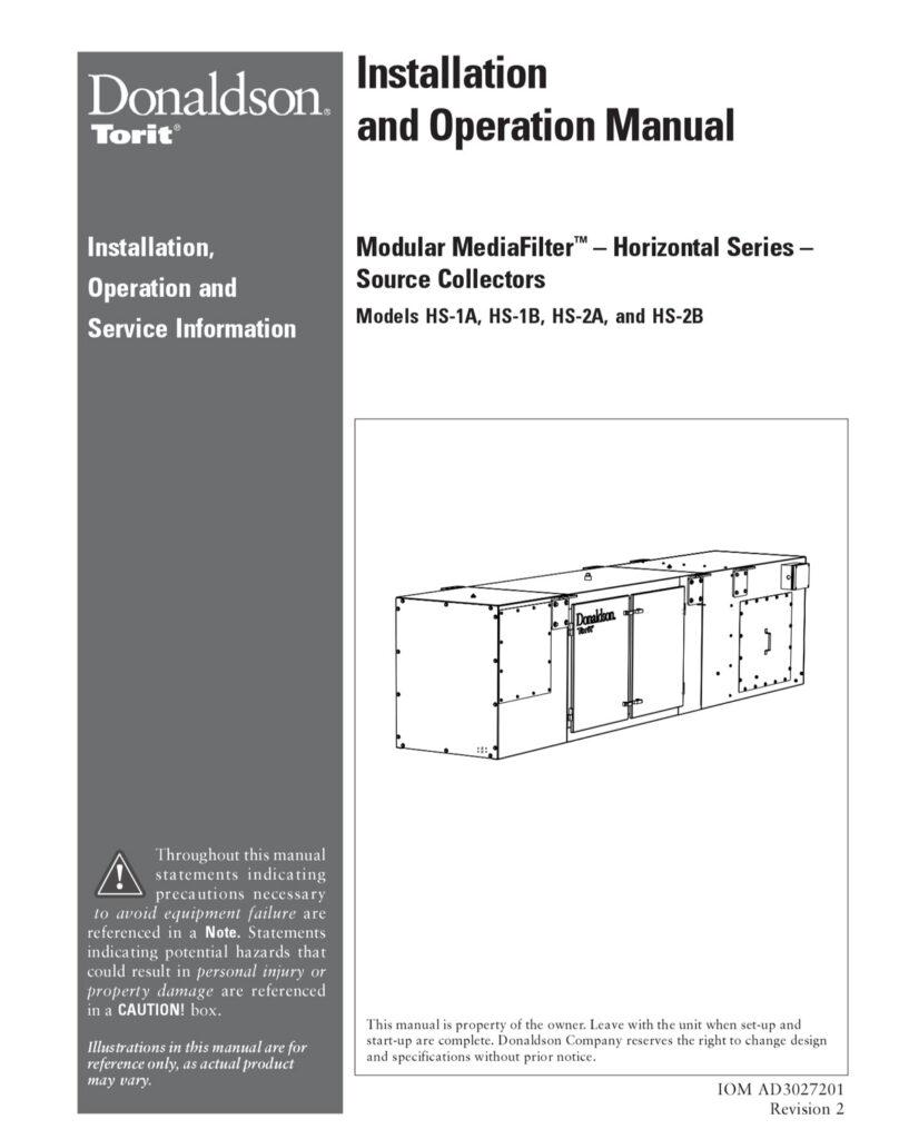 Modular MediaFilter - Horizontal Series - Source Collectors IOM