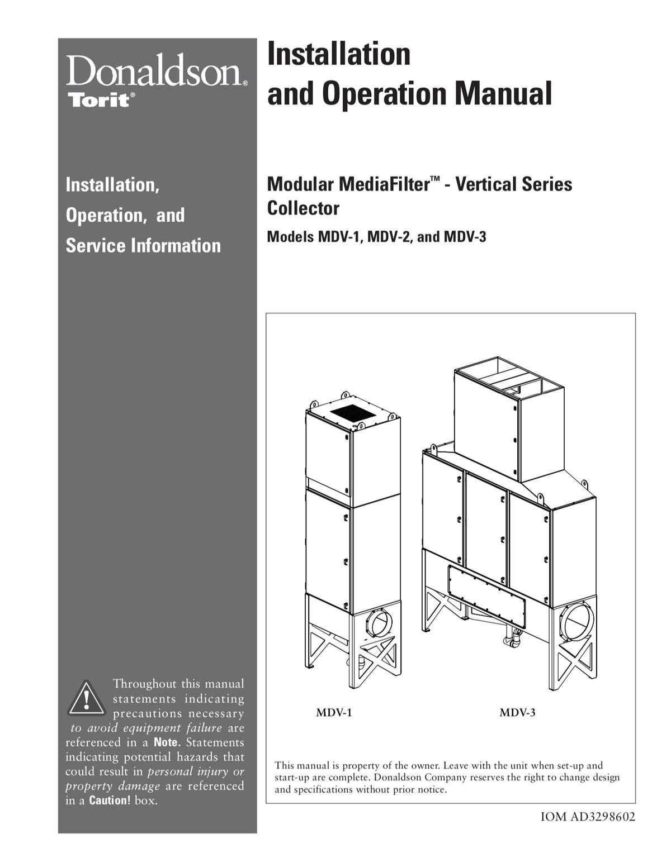 Modular MediaFilter - Vertical Series Collector IOM